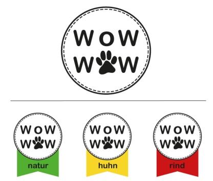 Logo Wow Wow und Farbgestaltung