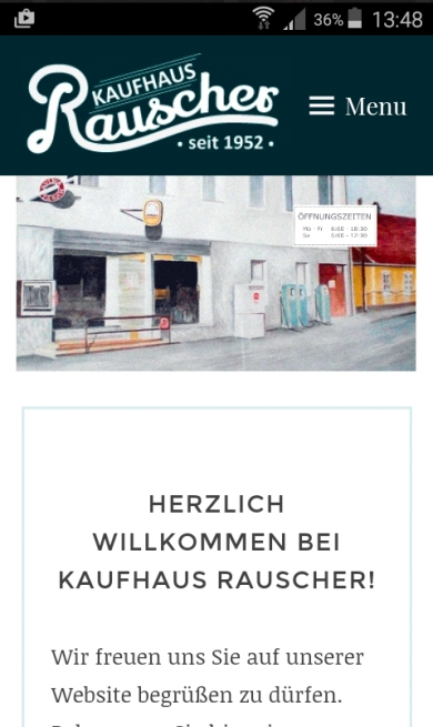 Screenshot der mobilen Version der neuen Website